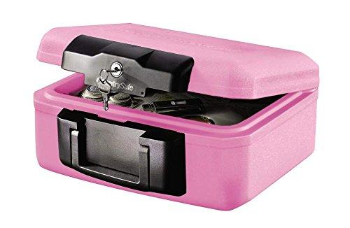 [해외]Sentry 센트리 휴대용 내화 금고 핑크 리본 활동 지원 한정 모델 B5 사이즈 수납 가능 핑크 1200PK/Sentry Sentry Portable Fireproof Storage Pink Ribbon Activity Support Limited Model B5 Size Storage Pink 1200 PK