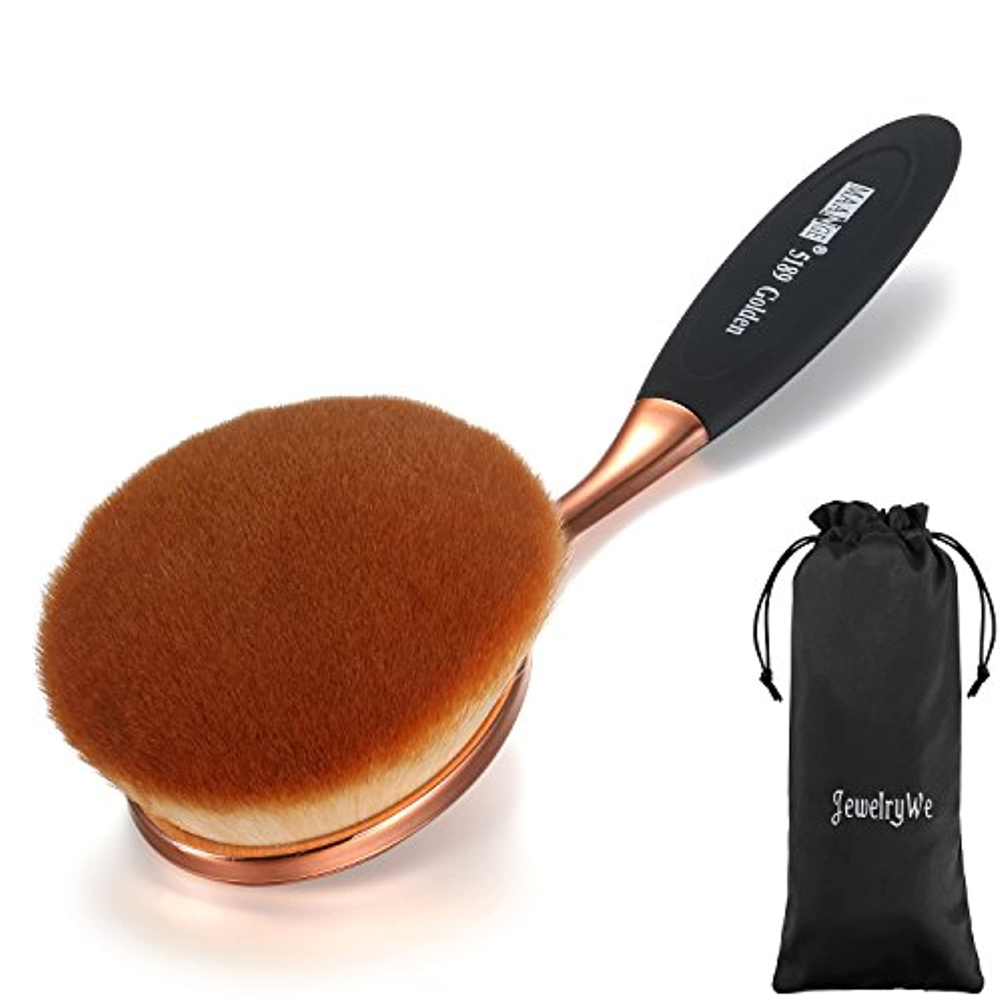 麺免疫するグラマーJewelryWe メイクブラシ 歯ブラシ型 ファンデーションブラシ 化粧ツール ピンクゴールド