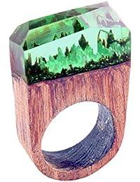 Vi.yo リング 樹脂指輪 木製 レディース メンズ アクセサリー 個性的なデザイン