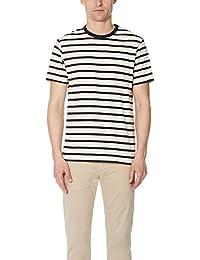 (サンスペル) Sunspel メンズ トップス Tシャツ Striped Crew Tee [並行輸入品]