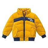 チーアン Tiann キッズ ダウンコート 子ども ジャケット ダウンコート キッズアウター 防寒 防風 中綿ジャケット アウター 男の子 ボーイズ 1歳~9歳 イエロー 110cm