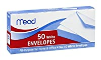 Mead No. 10 White Envelopes 4 1/8in x 9 1/2in 50CT (Pack of 12) [並行輸入品]