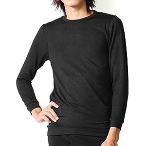 VAXPOT(バックスポット) インナーシャツ メンズ【吸湿発熱素材/東レソフトサーモ】VA-1200 BLK 男性用M