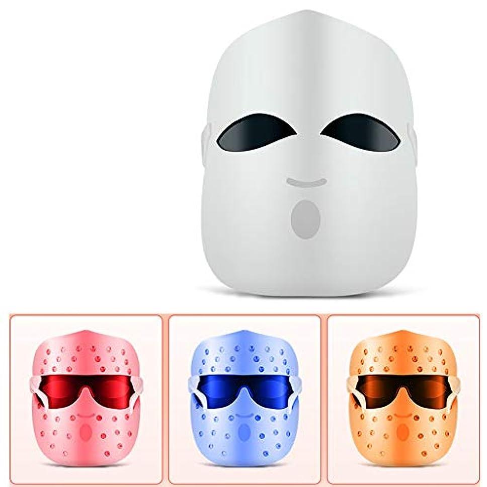 パフとメディックフェイスマスク、にきびの治療のための光療法にきびマスク|スポット|にきび|肌のシミ