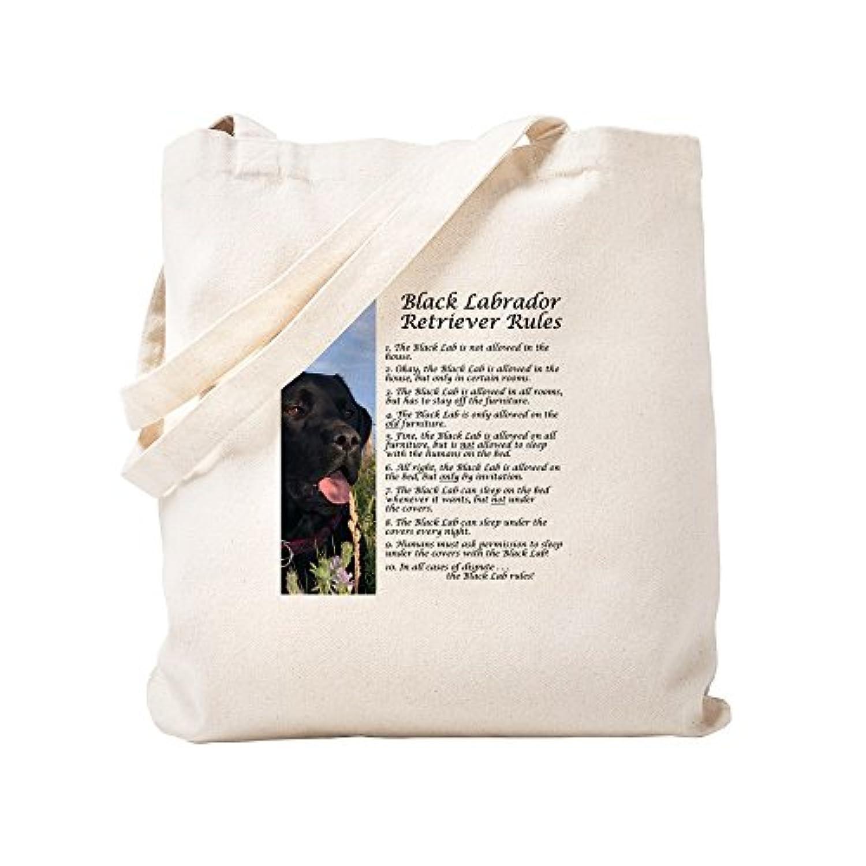 CafePress – blacklabrules – ナチュラルキャンバストートバッグ、布ショッピングバッグ S ベージュ 0986399740DECC2
