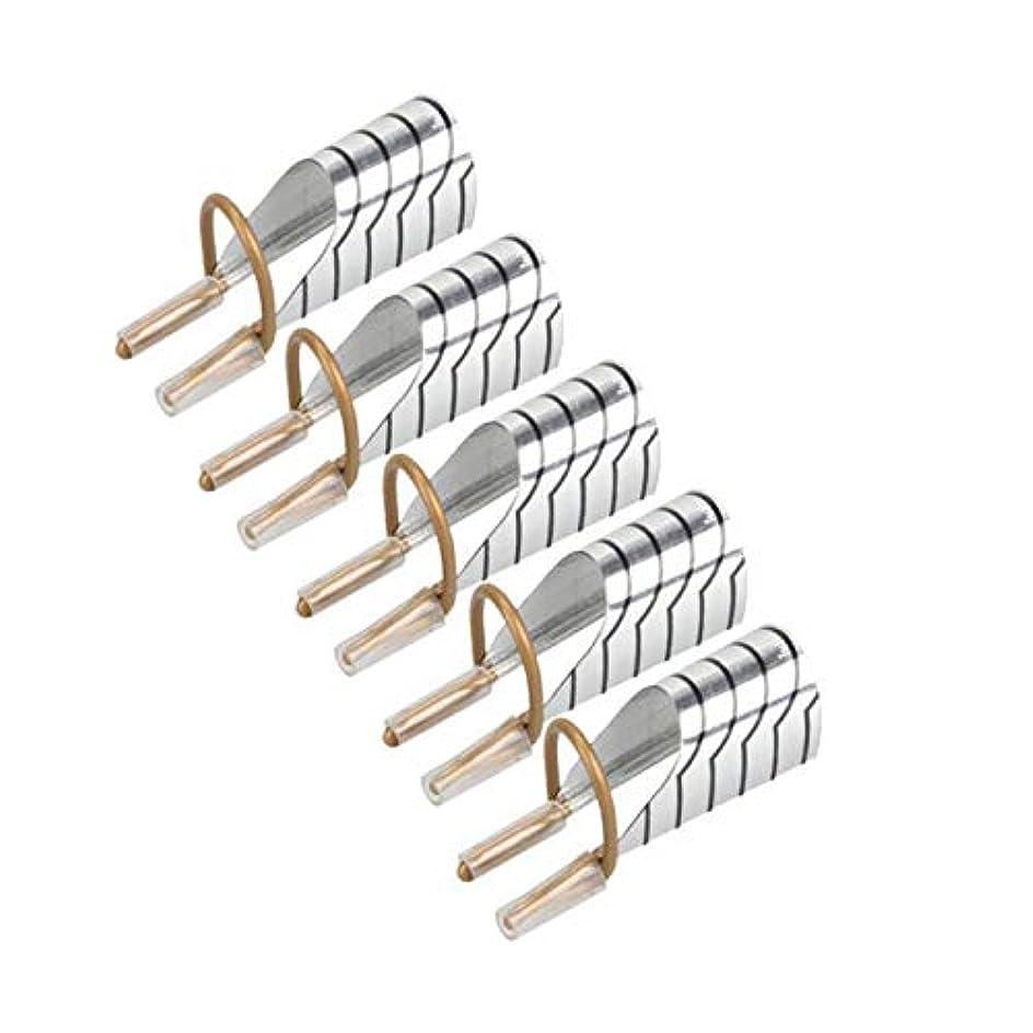 軽蔑閃光ほのめかすTOOGOO 5ピース、ネイルアートc湾曲形状延長ガイド先端、フレンチ箔、アクリル、ポリッシュ、ゲル、Uvデザインのフォーム、再利用可能、金属金型、マニキュアツール、 シルバー
