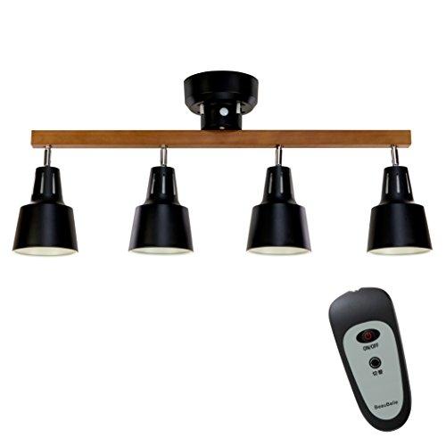 RoomClip商品情報 - ボーベル(BeauBelle) リモコン付きシーリングライト 4灯 ライトリー リモート ブラック・ブラウン BBS-043 BB