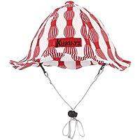 pekabo ベビー 帽子 キッズ ハット調整可能 子 春夏 紫外線防止 女の子 男の子 綿 UVカット ハット 日差し レッド