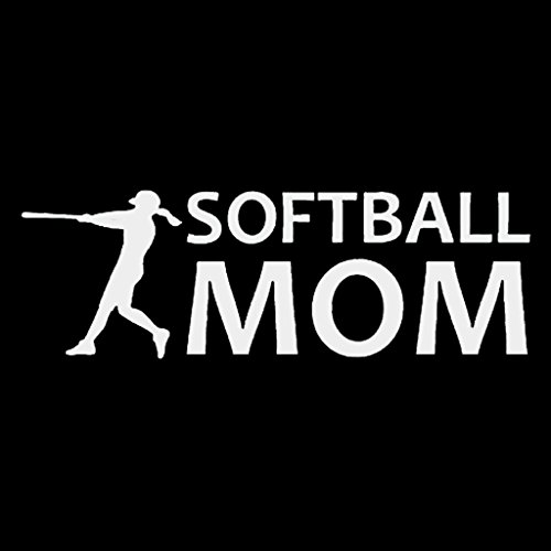Softball Momデカールビニールsticker|cars Trucks Vans壁laptop|ホワイト|7.5 X 2.5 in|cci1163
