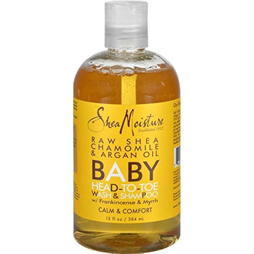 メダリスト借りるテスピアン[海外直送品] SheaMoisture Raw Shea Chamomile & Argan Oil Baby Head-To-Toe Wash & Shampoo  13 fl oz