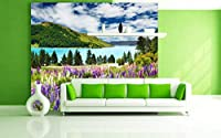 Startonight Mural Wall Art Photo Decor Flowers and Lake Large 8-feet 4-inch By 12-feet Wall Mural for Living Room or Bedroom by Mural Wall Art