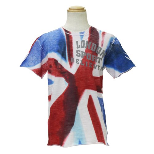 [ディーアンドジージュニア] D&G JUNOR 子供服 半袖Tシャツ (イギリス国旗) DGL4CT1P21 8Aサイズ
