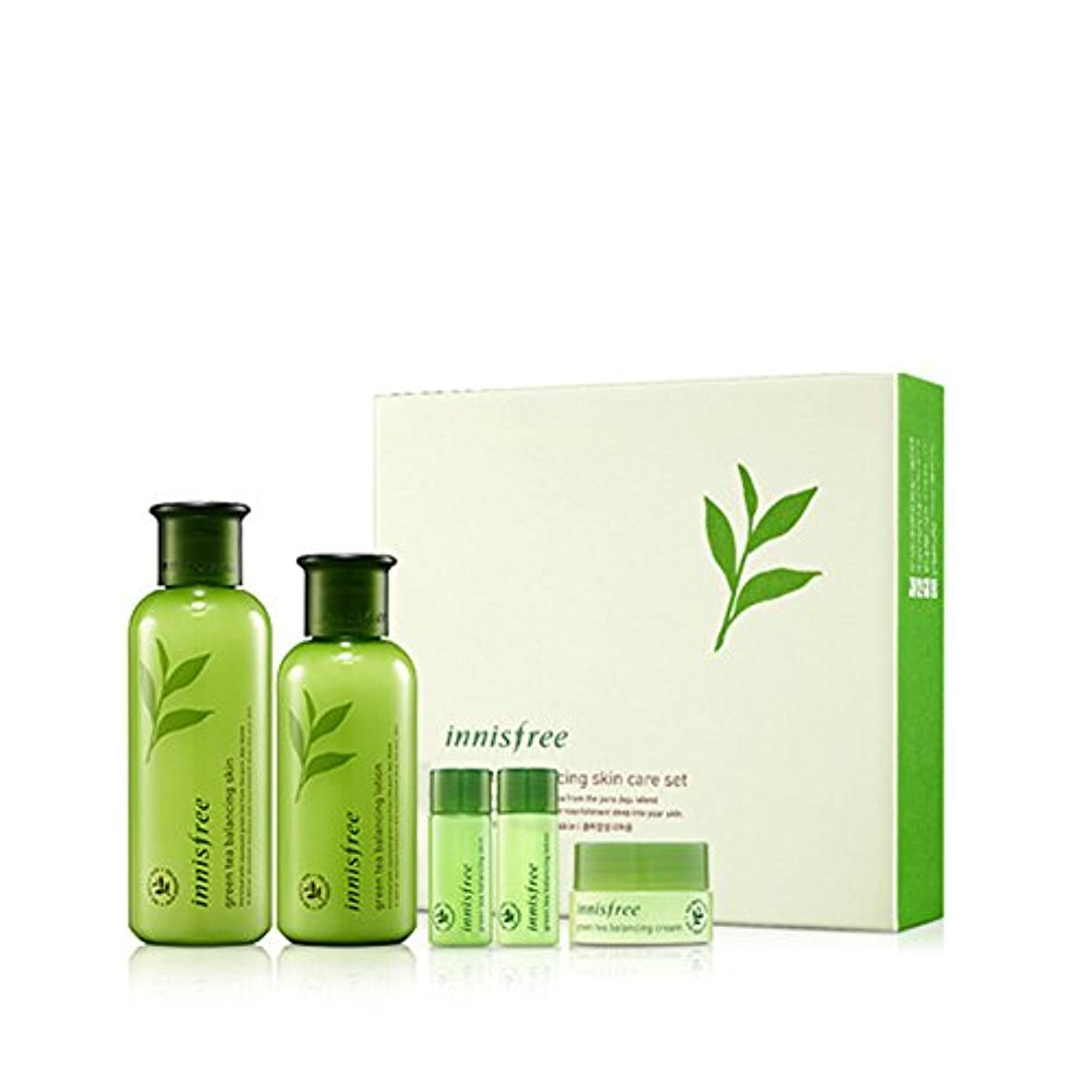 同等の活気づく全滅させる[イニスフリー] Innisfree [グリーンティーバランシングスペシャルスキンケアセット] Green Tea Balancing Special Skin Care Set [海外直送品]