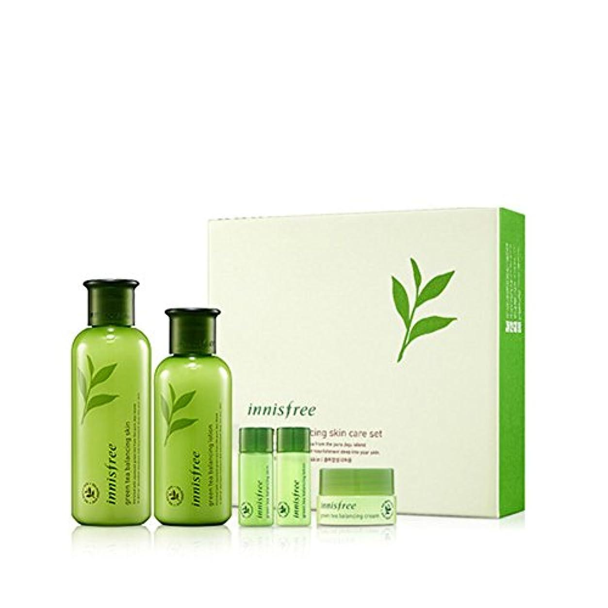 サポート今差別化する[イニスフリー] Innisfree [グリーンティーバランシングスペシャルスキンケアセット] Green Tea Balancing Special Skin Care Set [海外直送品]