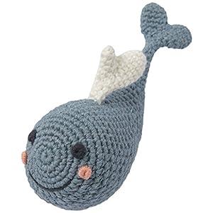 ウィーゴアミーゴ Weegoamigo ラトル 赤ちゃん おもちゃ ガラガラ ぬいぐるみ 新生児 Crochet Rattles Wandering Whale くじら