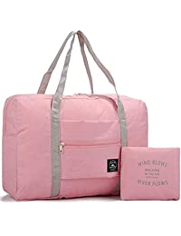 Kayalu 折りたたみ 旅行バッグ トラベルバッグ ボストンバッグ レディース 軽量 防水 キャリーオンバッグ 大容量 旅行 出張 整理用 スーツケースの持ち手に通せる 32L