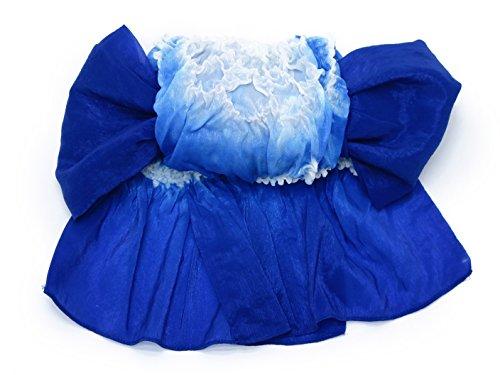 兵児帯 子供用 男の子 絞り柄のへこ帯 三尺帯(ゆかた帯)「青」 yu AHK103