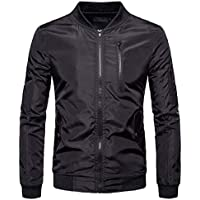 Howme-Men Multi-Pocket Quilted Outwear Long-Sleeve Relaxed-Fit Zipper Jacket