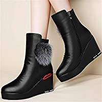 [34-maizhuoyuanlin] 女性用ブーツ快適で美しい丈夫な靴女性用シューズ秋冬用ブーツ女性用ブーツ女性用ブーツ子供用 (Color : 36 black, サイズ : M)