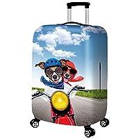 ラゲッジカバー、保護ウォッシャブルスーツケースカバー - トラベル弾性スパンデックススーツケースプロテクターは18から32インチの荷物にフィット,D,XL