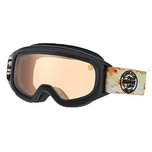 SWANS(スワンズ)スノーゴーグル メガネ装着対応 ヘルメット対応 ジュニア用 子ども用 JUMPIN-DH BKブラック F