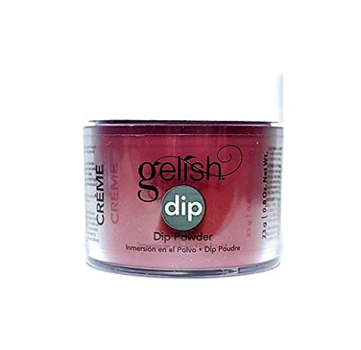 横たわる予定ロードされたHarmony Gelish - Dip Powder - Red Alert - 23g / 0.8oz