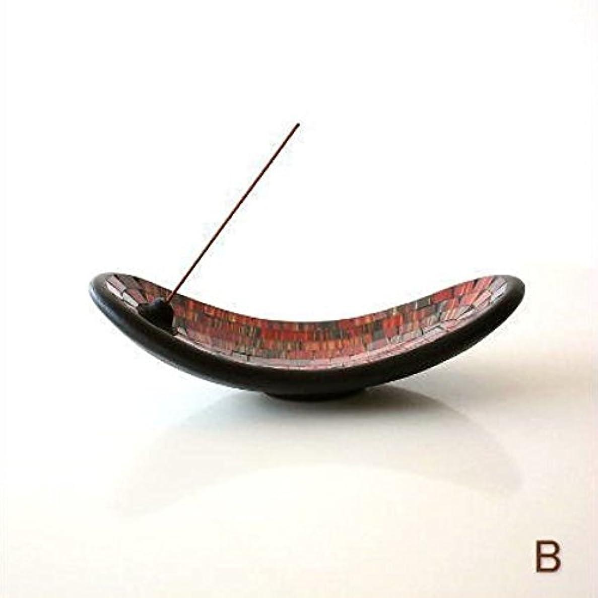 古代頭痛信者お香立て スティック おしゃれ かわいい モザイクガラスのインセンスホルダー [tom4305] (B)