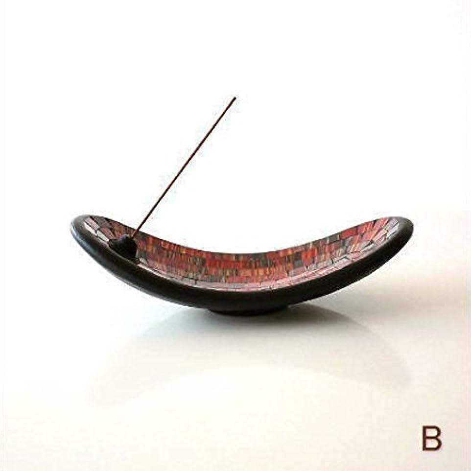 意図渦すなわちお香立て スティック おしゃれ かわいい モザイクガラスのインセンスホルダー [tom4305] (B)