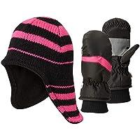 Hot Paws Girls Thermal Hat and Ski Mitten Set (Toddler)