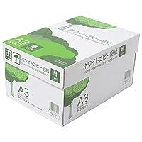 コピー用紙 A3 ホワイトコピー用紙 高白色 紙厚0.09mm 2500枚(500×5) AIK912
