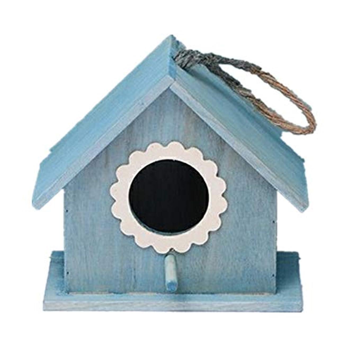 ボトル世界的にクマノミ鳥の巣 レトロアーツアンドクラフツ屋外屋外バードハウス装飾コテージバードハウス屋外ウッドバードハウス用小鳥小屋バードハウス 鳥の巣箱 (Color : Red, Size : S)