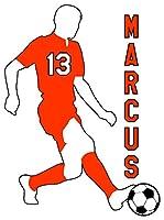 サッカー 男の子 男性 3 ビニール ウィンドウ デカール ステッカー お好みの色をお選びください オレンジ decals