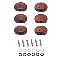 FutuHome 6セットスプリングワッシャーノブ取り付けネジ用ベースギターブリッジ部品