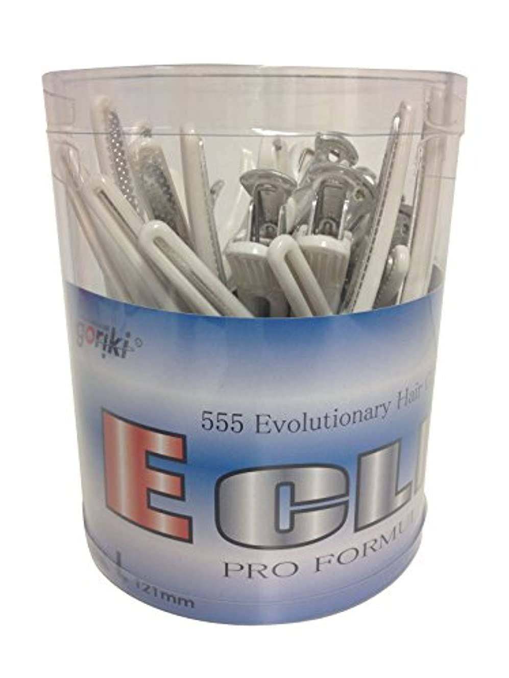 流行朝食を食べるシエスタ五力工業 Eクリップ Lサイズ 丸筒入り ホワイト(抗菌) 24本入り