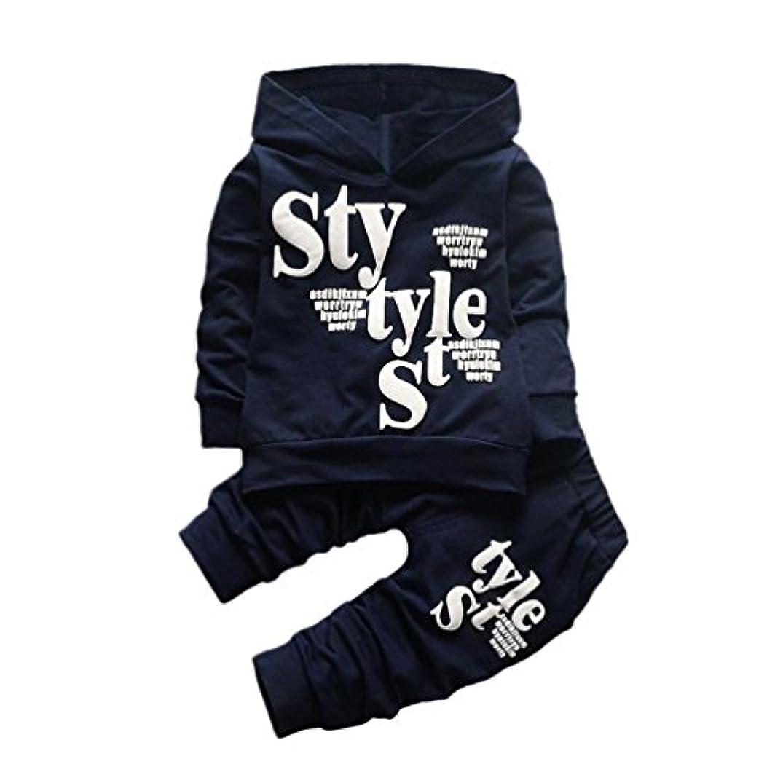頬骨適合しました常にパーカー+ズボン Tシャツ スウェット 子供服 赤ちゃん服 上着+パンツ2点セット かっこいい ベビー服 ロンパース カバーオール 男の子 女の子 ファッション