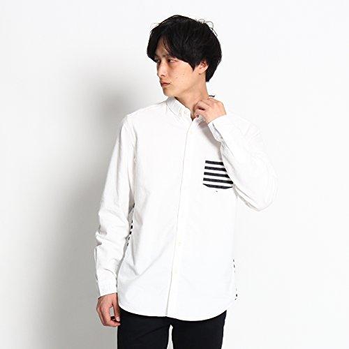(ザ ショップ ティーケー) THE SHOP TK ボーダー切り替えシャツ 61682662 02(M) ホワイト(001)