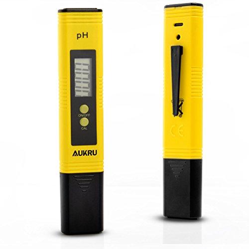Aukru 高精度 デジタル PH計 ペーハー測定器 熱帯魚飼育 水質検査用 自動的に校正 日本語マニュアル 校正剤 付き