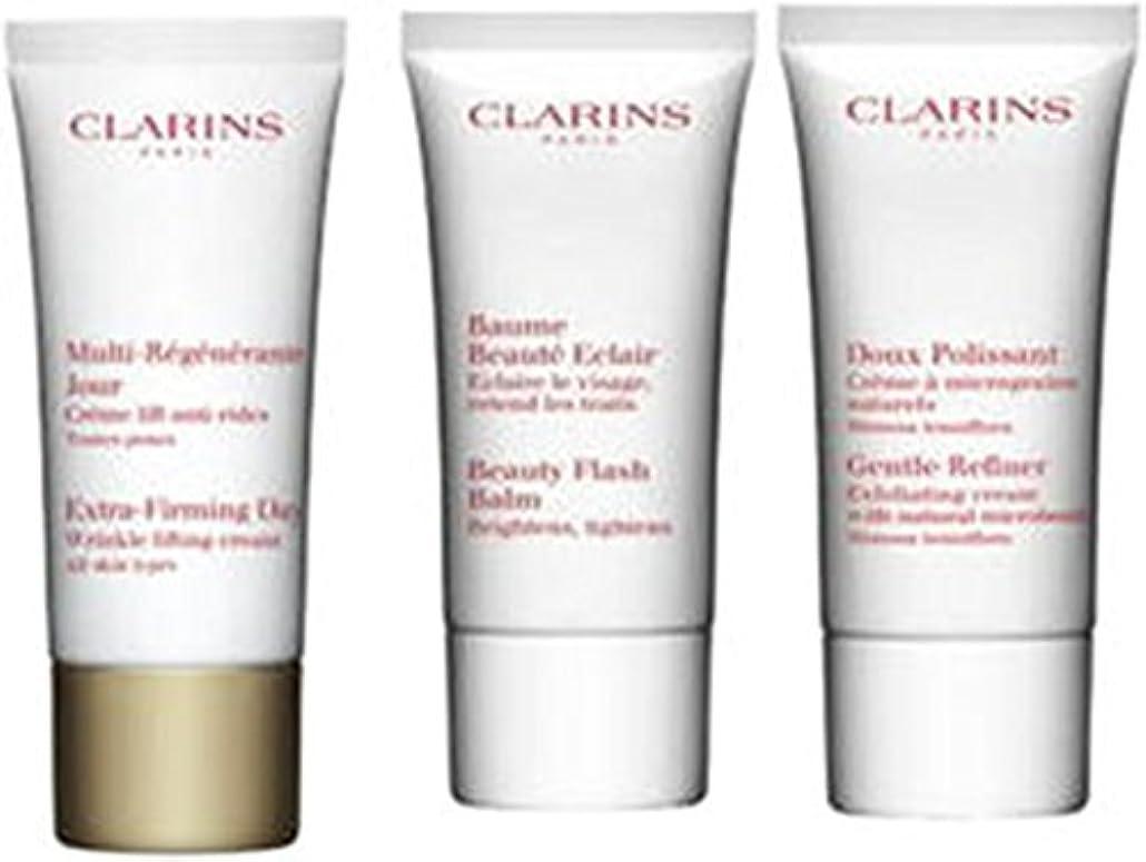 フィールドうっかり等しいクラランス Extra-Firming 40+ Anti-Ageing Skincare Set:Gentle Refiner 30ml +Extra-Firming Day Cream 30ml+ Beauty Flash...