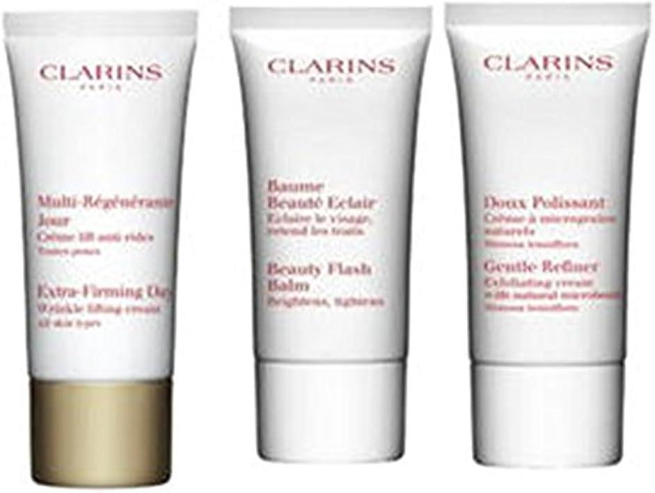 クラランス Extra-Firming 40+ Anti-Ageing Skincare Set:Gentle Refiner 30ml +Extra-Firming Day Cream 30ml+ Beauty Flash...