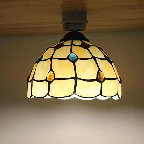 Kiven 天井照明 シーリングライト ガラスランプ モザイク 照明器具 北欧デザイン おしゃれ 玄関 階段 トイレ アンティーク LED電球対応 E26 電球別売り