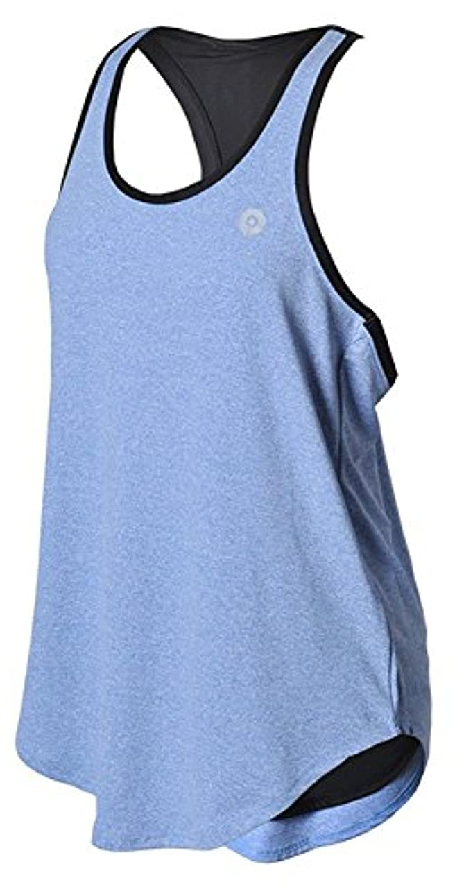 マンモス達成学校World Star Women's Basic Ribbed Tank Top for Running, Yoga, Gym P6021 [並行輸入品]