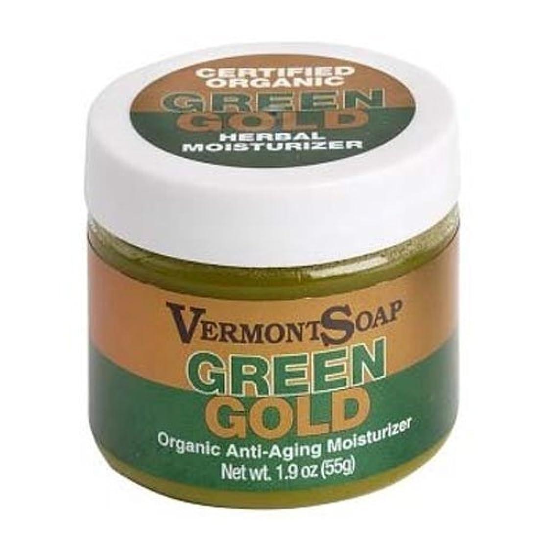 助言記念品組み立てるバーモントソープ オーガニック保湿クリームグリーンゴールドL