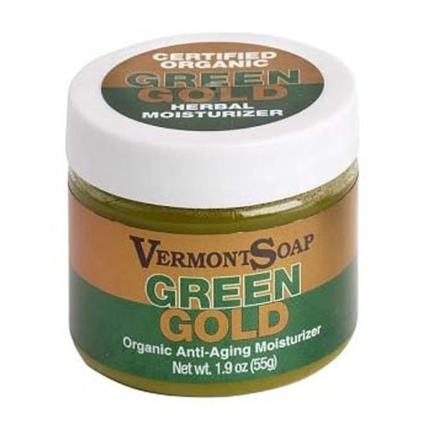 前文発明うなるバーモントソープ オーガニック保湿クリームグリーンゴールドL