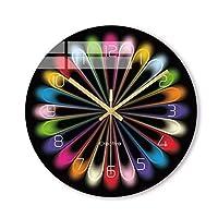 HZluxu カラフルクリエイティブ虹の新クォーツウォールクロック近代ファンタスティック抽象アートスタイルの壁時計のホームデコレーション (色 : A, Size : 30cm*2cm)