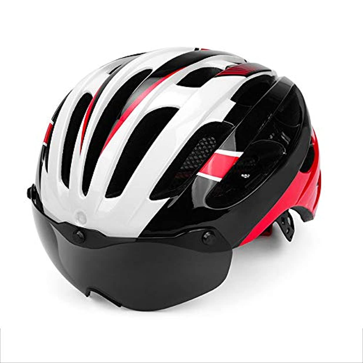 イルパケットプレゼンターHYH 安全マウンテンバイク乗馬ヘルメット統合磁気メガネロードバイクヘルメット成人男性と女性 いい人生 (色 : Black)