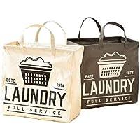 ランドリーバッグ (グレー, M) 大容量 大きい 薄型 折りたたみ 畳める 防水 クリーニング コインランドリー 洗濯…