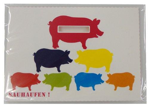 チクノライフ 豚の貯金箱メッセージカード SPARTUTE ...