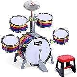 LINGLING-ドラム 子供のドラムパーカッション音楽音楽知育玩具幼児教育用ギフト2つのドラムが選ぶことができる (Size : S s)