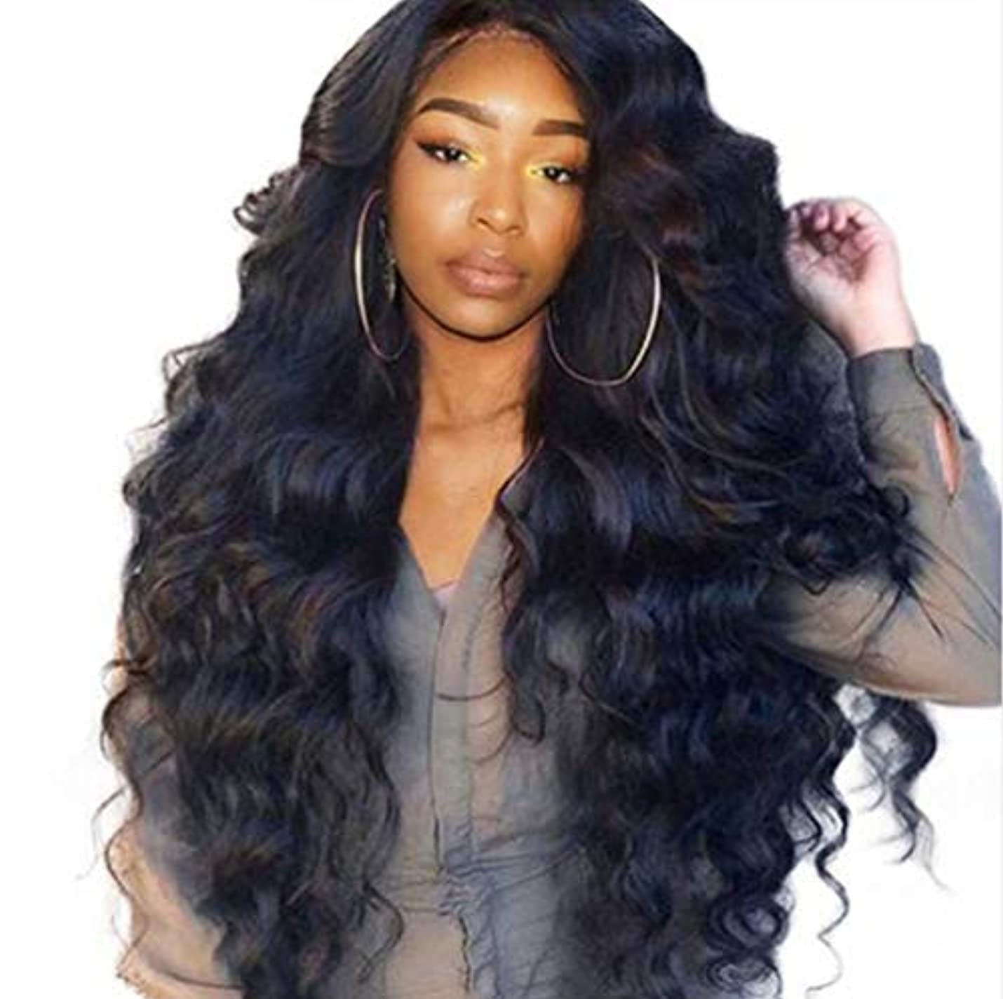 考慮消す範囲女性ブラジルレースフロントかつら人間の髪の毛赤ちゃん髪ブラジル実体波髪レースかつら150%密度