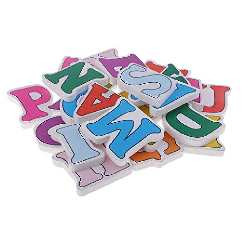 chiwanji 文字のアルファベット 木製 AからZまで 塗装色 アルファベット 学習玩具 工芸品